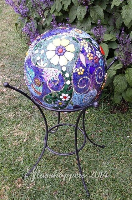 Garden Gazing Ball By Glasshoppers . . . Would Love To Try And Make One As  Beautiful As This.