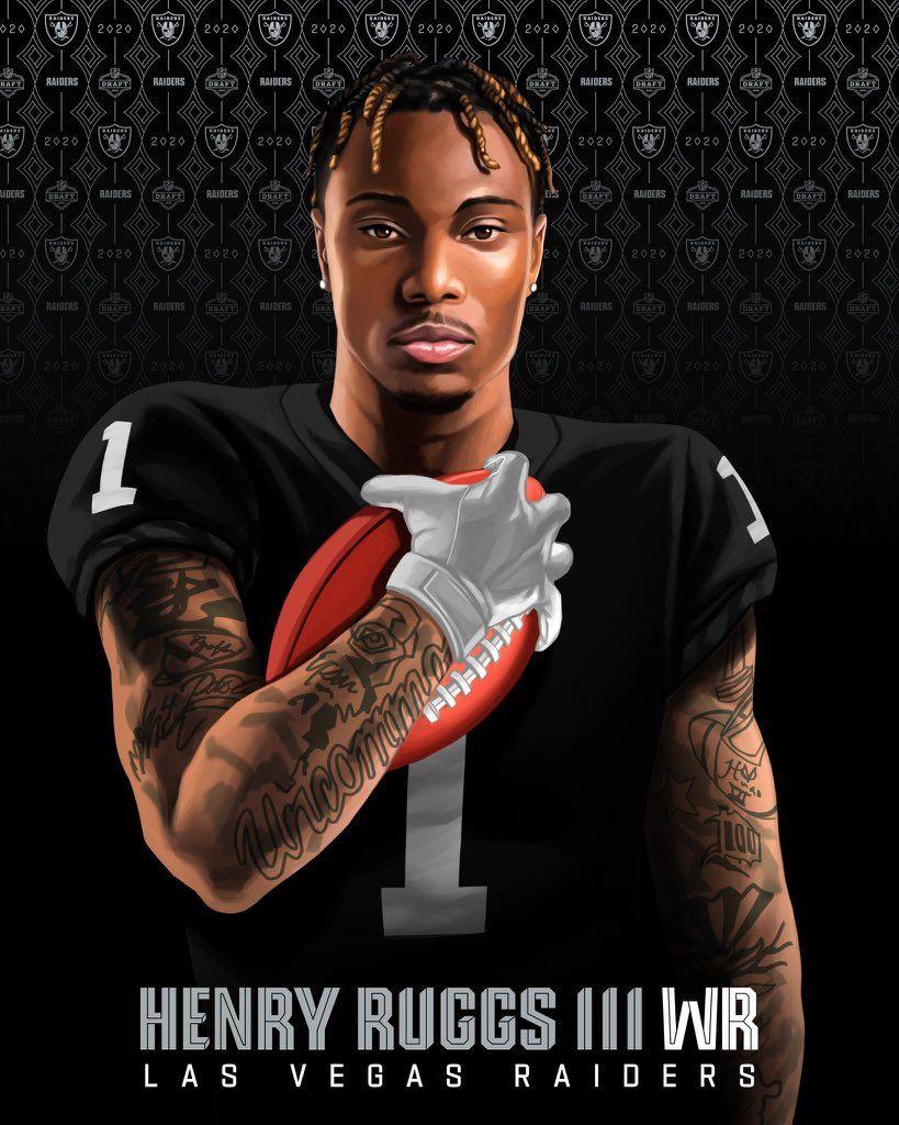 Henry Ruggs Iii Primer Las Vegas Raider In 2020 Football Memes Nfl Nfl Football Helmets Nfl Football Pictures