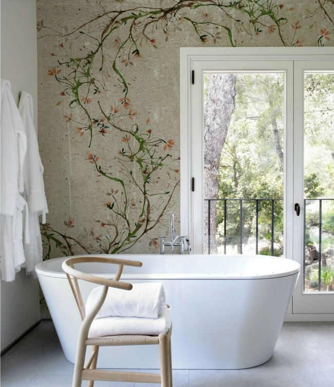 Badezimmer Tapete Modern Design Badezimmer Tapete | Bathroom Wallpaper, Mosaic