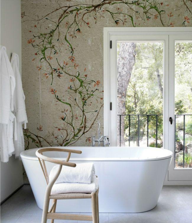 designer tapeten und wanddekoration fürs badezimmer  deko