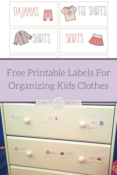 Printable Labels For Organizing Kids Clothes Organization