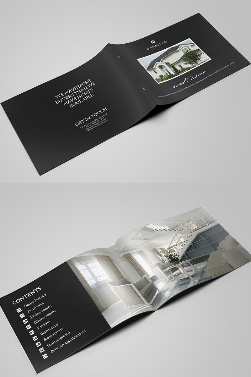 Sweet Home Real Estate Brochure Corporate Identity Template 80464