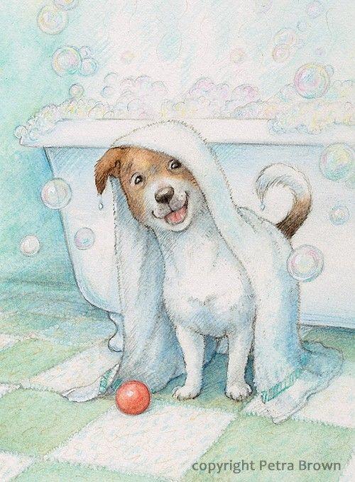 Pin Von Meredith Radley Auf Things I Love Niedliche Zeichnungen Hund Illustration Hundekunst