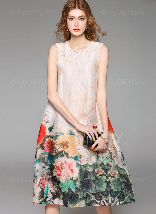 Kleid seide knielang