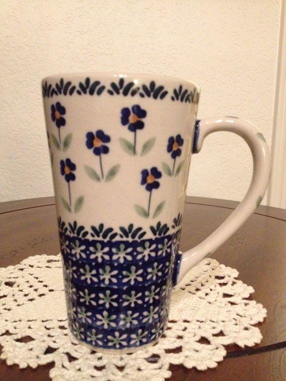 Polish Pottery Coffee Mug by MimisMiniMarketplace on Etsy, $12.00