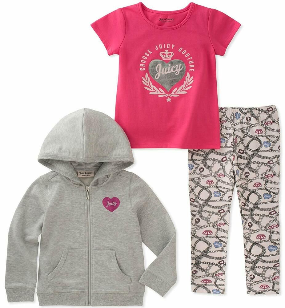 Juicy Couture Baby Girls 3 Pieces Jacket Set Fashion Clothing Shoes Accessories Babytoddlerclothing Baby Couture Juicy Couture Baby Cute Baby Girl Outfits