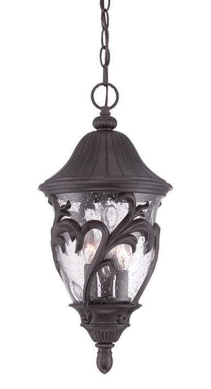 View the Acclaim Lighting 39216 Capri 3 Light Outdoor Pendant with Rain Seeded Glass at Build.com.