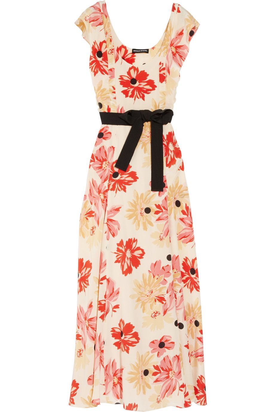 Sonia rykiel floralprint silk crepe de chine dress netaporter