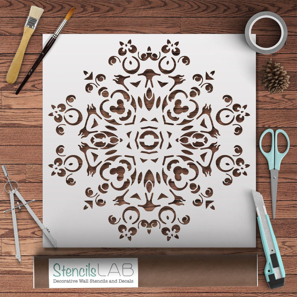 Mandala Stencil For DIY - Wall Decor Stencil - Unique Wall ...