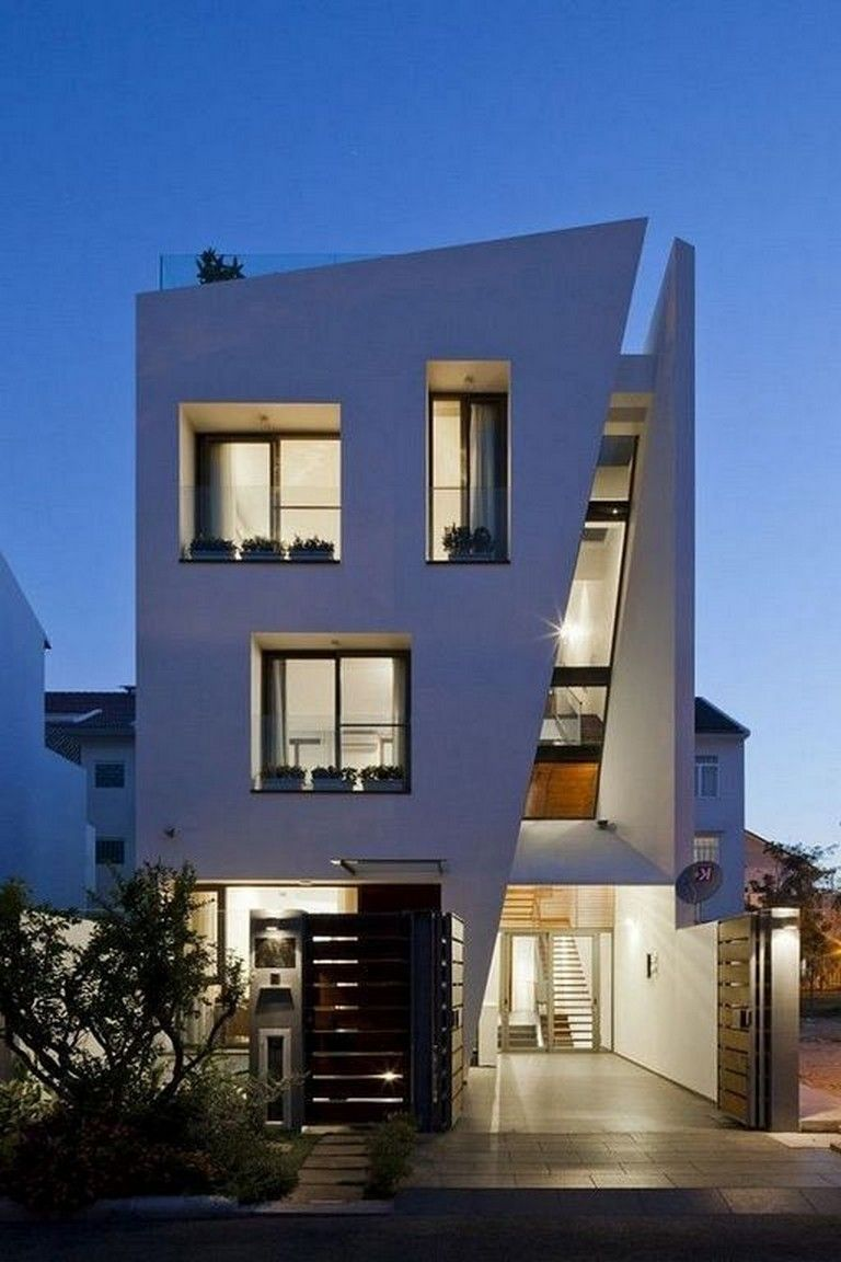 Amazing Residential House Design In The Style Of Vertical Houses In 2020 Residential House House Design Gray House Exterior