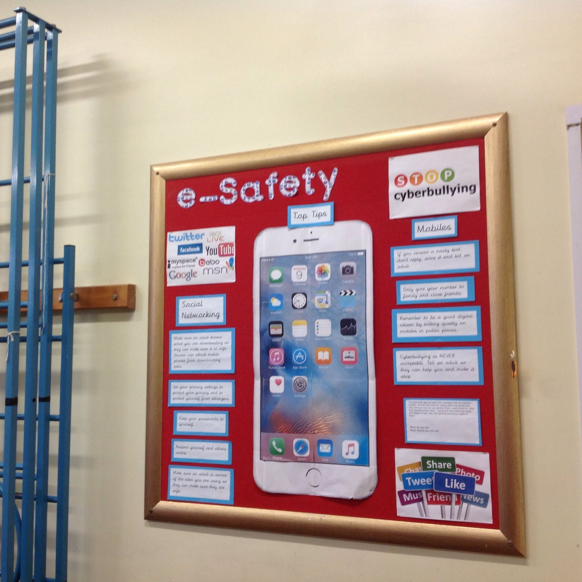 Innovative Classroom Displays ~ E safety pinterest school and display