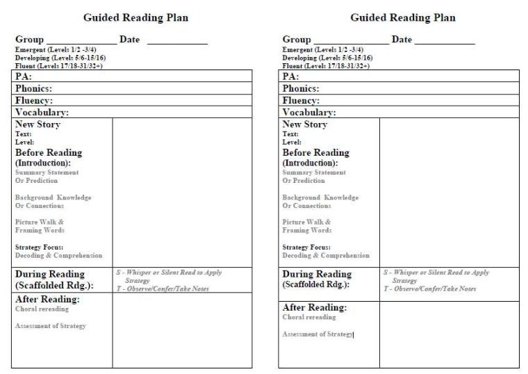 first grade lesson plan template