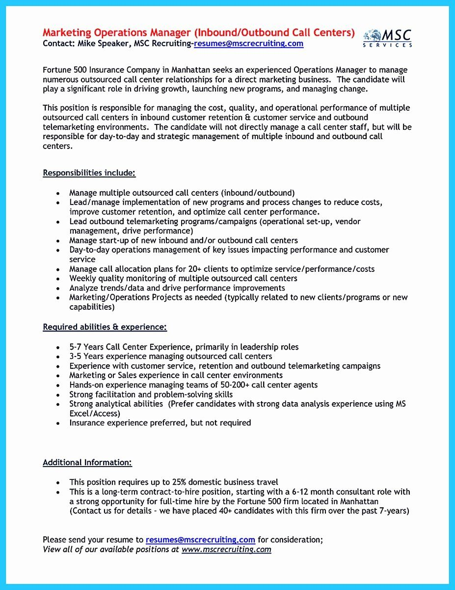 Call Center Jobs Description Resume Lovely Impressing The Recruiters With Flawless Call Center Resume Resume Examples Call Center Resume
