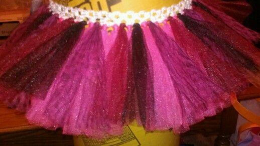 Pink and black zebra with burgundy tu-tu cute creations