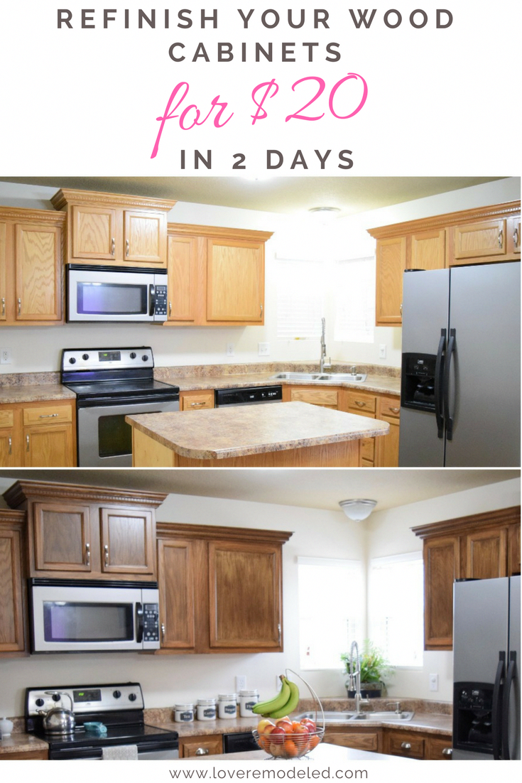 How to Refinish Wood Cabinets the Easy Way - Love ...