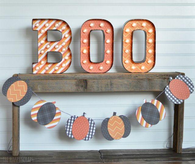 Pumpkin Halloween Banner The Happy Scraps Halloween Banner Halloween Ghost Decorations Birthday Candle Card