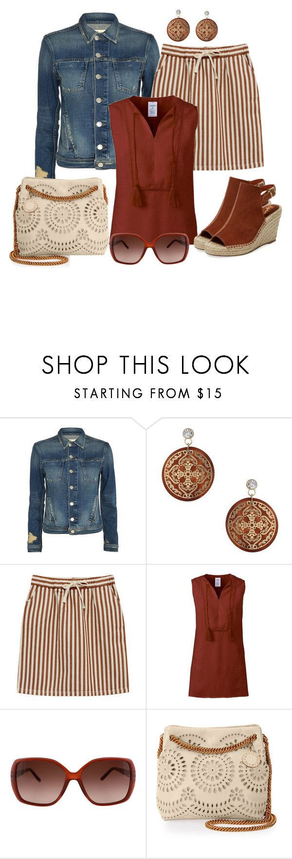 """""""Untitled #1382"""" by gallant81 ❤ liked on Polyvore featuring L'Agence, Miss Selfridge, Lands' End, Chloé, STELLA McCARTNEY and Seychelles"""