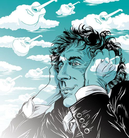 Alain Souchon, Editorial Illustration by Jorn Kaspuhl for GQ France