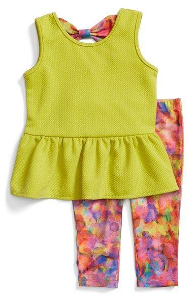 Nicole Miller Tunic & Leggings Set (Baby Girls)
