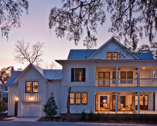 White house black windows love the panelling exterior - Houses with black windows ...