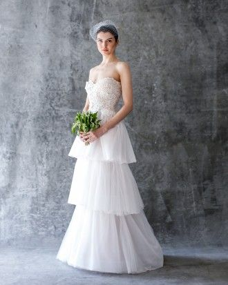 Classic tiered wedding dress | Click to view more styles