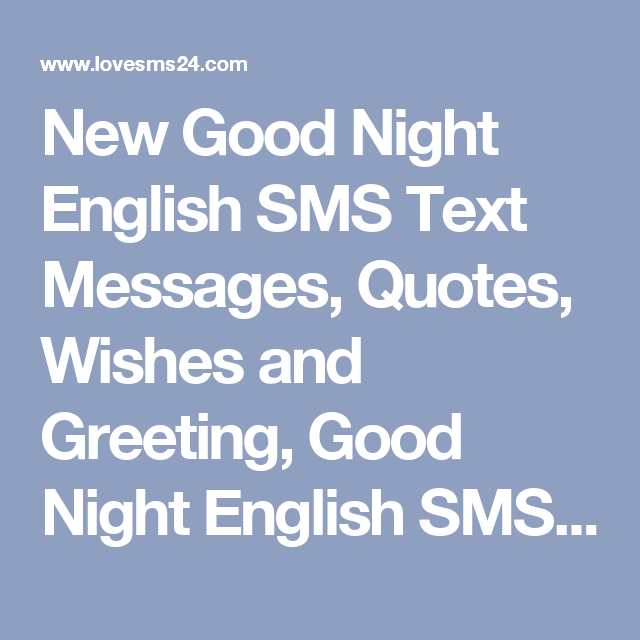 New good night english sms text messages quotes wishes and new good night english sms text messages quotes wishes and greeting good night m4hsunfo Choice Image
