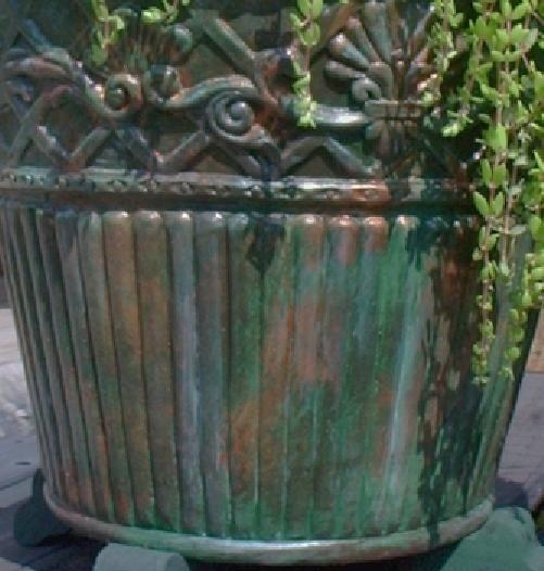Aged Planters Blue Painted Pots Farmhouse Painted Pots Succulent Planter Herb Pots Set of 3 Herb Planters Distressed Planters