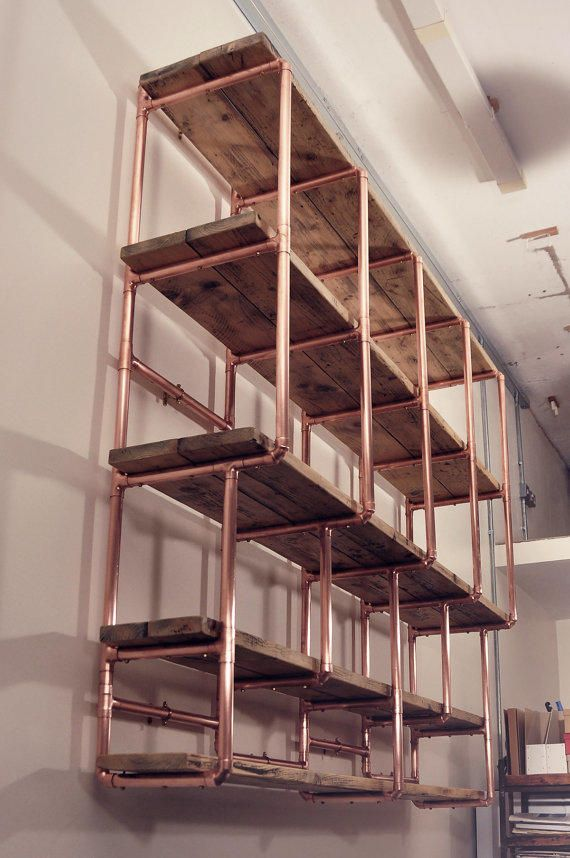 how to make copper shelving