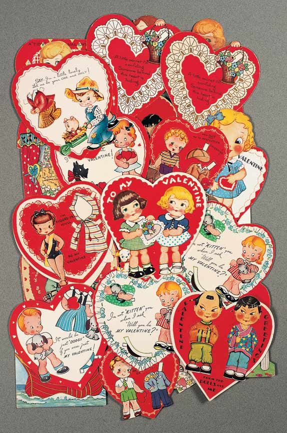 View Catalog Item - Theriault's Antique Doll Auctions Lot: 200. Thirty-Five Greeting Card Paper Dolls