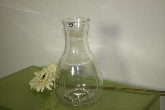 Orrefors Vase Large Clear Sweden Made Vintage by theartlyons, sold.