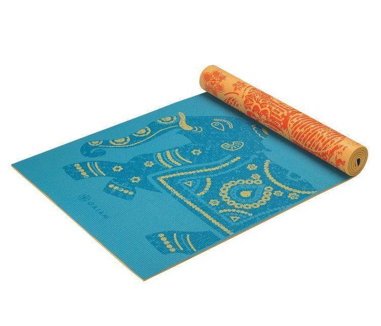 Elephant Reversible Yoga Mat Mat Exercises Yoga Types