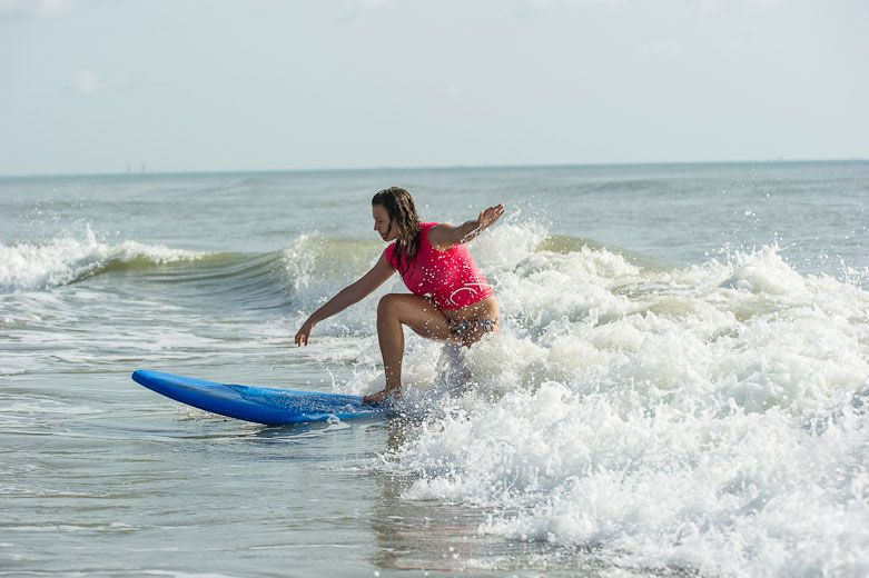 Surf Lessons Cocoa Beach Hannah Jakab Surfing Cocoa Beach Florida And Getting Surf Instruction Affordable Beach Vacations Cocoa Beach Surfing Surf Lesson
