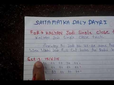 make money with satta matka expert kalyan singal jodi trick best