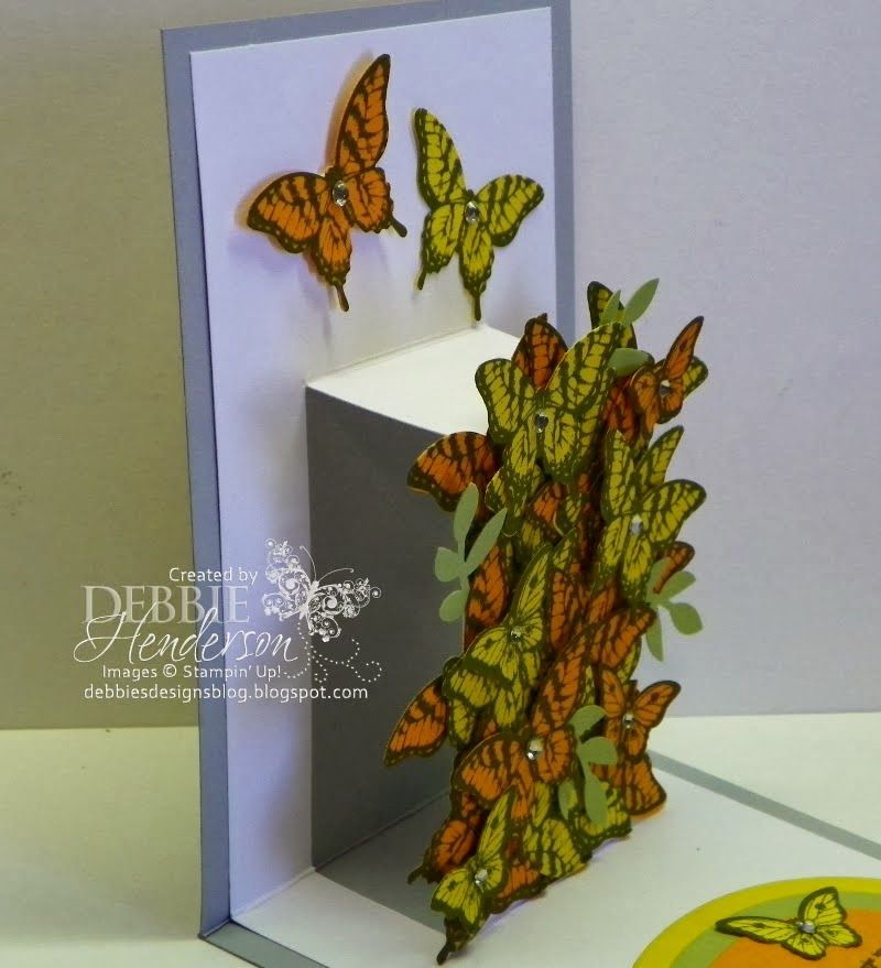 How to create this pop-up card. Pattern included. Debbie Henderson, Debbie's Designs.