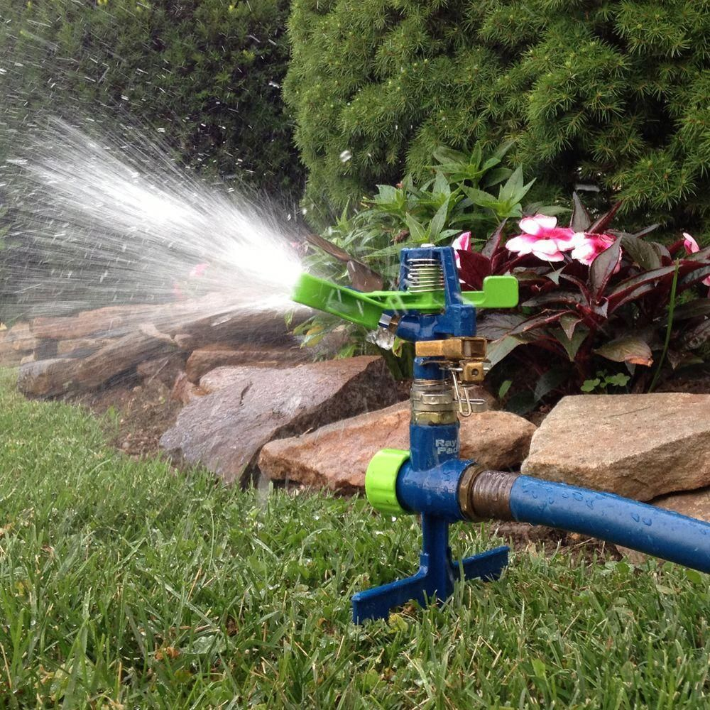Ray Padula Plastic Pulsating Sprinkler on Metal Spike Large Lawn 5,600 sq ft.