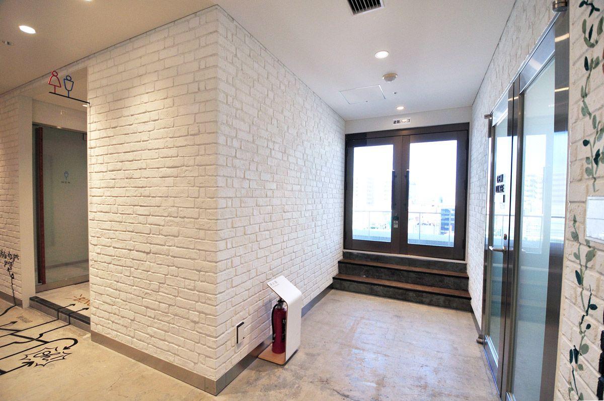 施工事例 商業施設内装デザイン アトレ松戸 8f共用スペース キャン エンタープライゼズ パブリックスペース 内装 ブリック