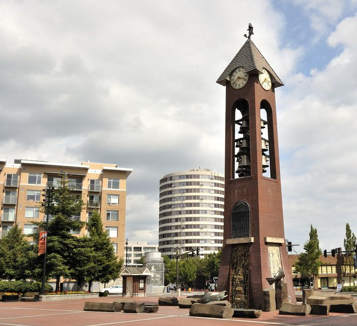 Downtown S Foreman Clark Building To Become 124: Vancouver, WA : Glockenspiel And Buildings Near Esther