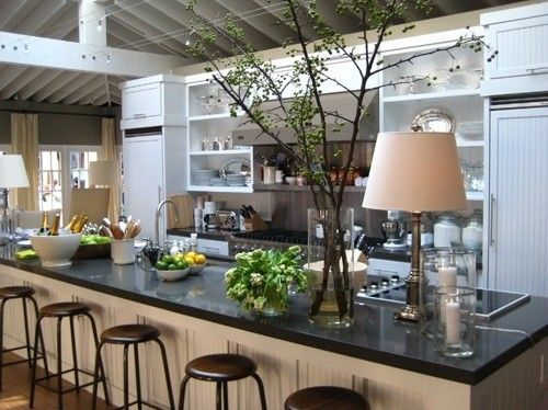 Designer Robert Stilin Recreated Ina Garten S Barefoot Contessa Famous Hamptons Kitchen And I Have These Antique Black Counter Tops In My