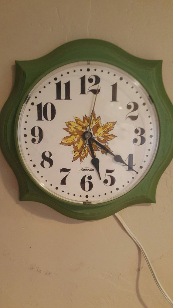 Your Place To Buy And Sell All Things Handmade Vintage Wall Clock How To Make Wall Clock Mcm Decor