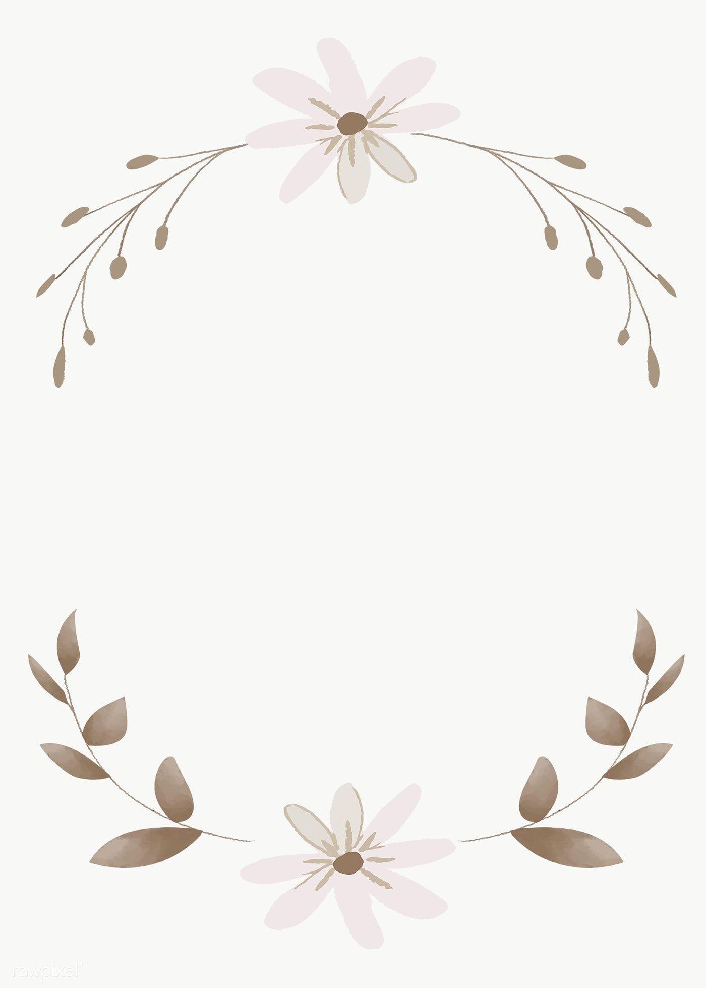 Blank Leafy Inivtation Card Transparent Png Premium Image By Rawpixel Com Adj Flower Illustration Flower Drawing Vector Background Pattern