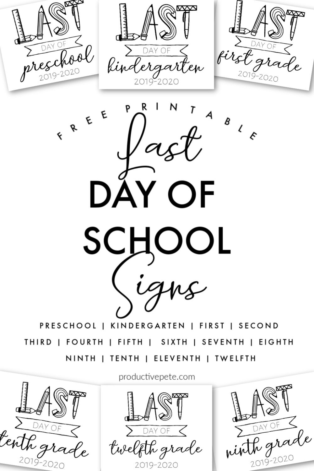 Free Printable Last Day Of School Signs For The 2020 2021 School Year School Signs Last Day Of School End Of School Year [ 1500 x 1000 Pixel ]
