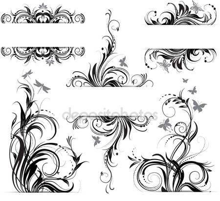 Ornamento floreale — Illustrazione stock #9543574