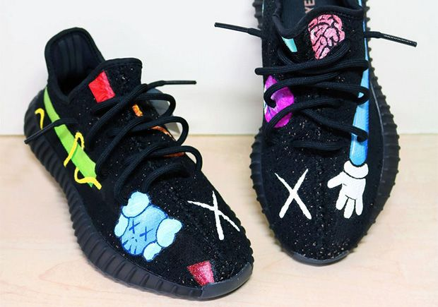 info for d7420 caace KAWS x adidas Yeezy Boost Custom | Feet Action | Yeezy shoes ...