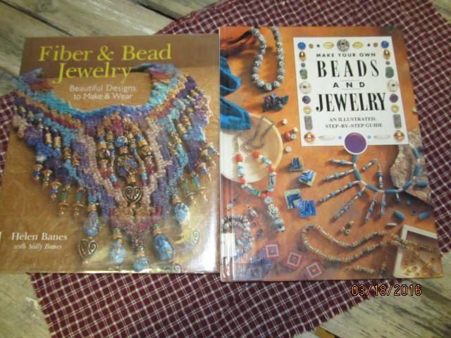 Craft Books Jewelry Beading Fiber & Bead Jewelry Make your own Beads  Jewelry lot of 2 craft books by EvenTheKitchenSinkOH on Etsy