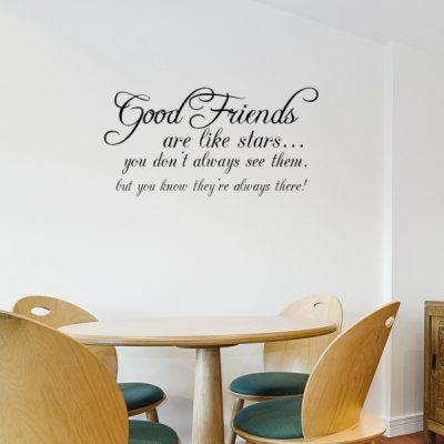 Good Friends, are like stars - Wall Stickers Quotes