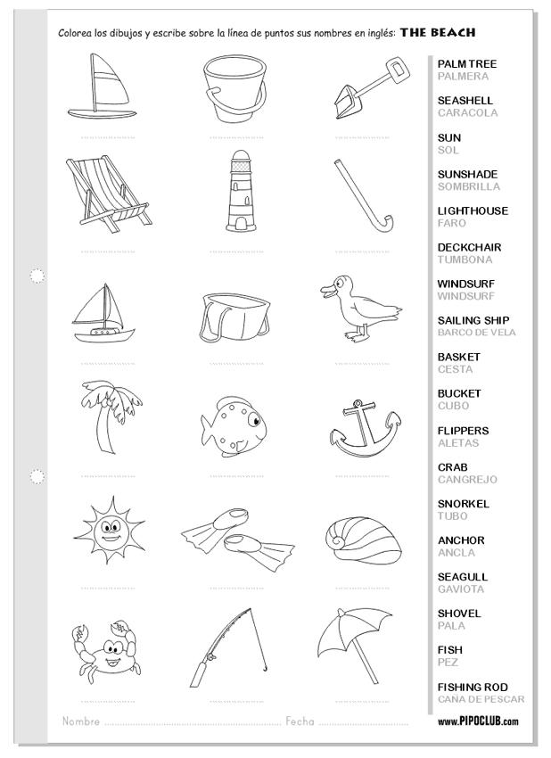 Vocabulario de la playa en inglés - The beach #English #inglés ...