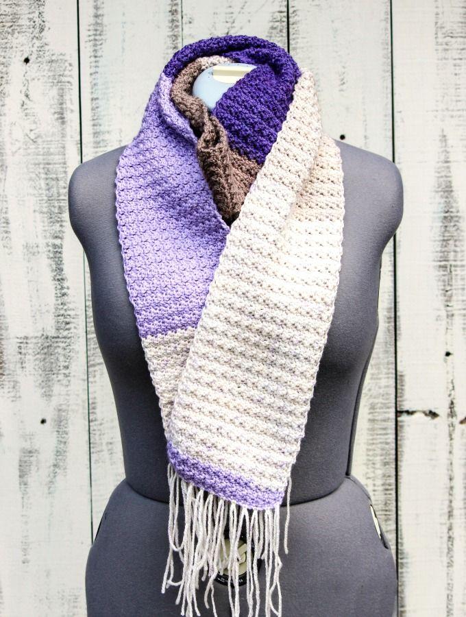 Crochet Lilac Frosting Scarf - Free Crochet Pattern | Capilla
