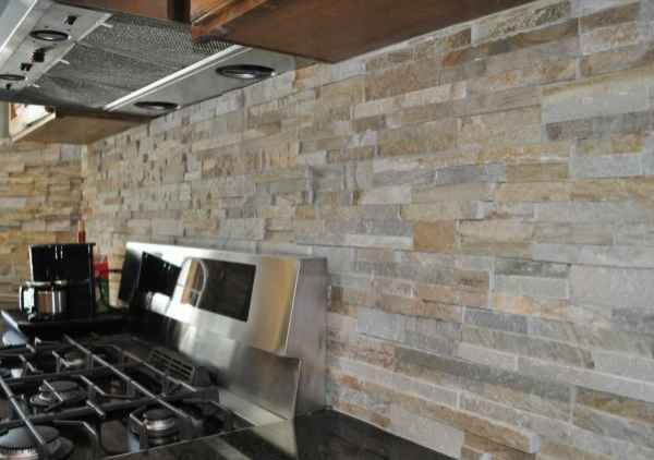Modern Kitchen Stone Backsplash rustic modern kitchen backsplash stone tiles | for the home