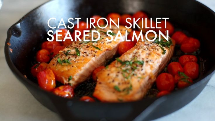 Cast Iron Skillet Seared Salmon #searedsalmonrecipes