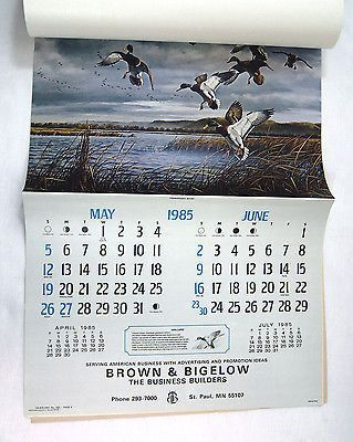 Vintage 1985 2019 David Maass Wilderness Wings Calendar Vintage